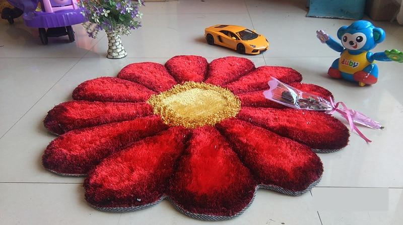 90 см x 90 см, круглые 3D Цветочные ковры для гостиной, тянущиеся ковры из пряжи, коврик для двери, свадебный ковер для спальни, Декор, Alfombras - Цвет: 08