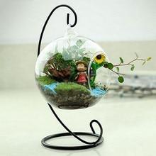 Подсвечник шар Форма Прозрачный висячая стеклянная ваза цветочные растения контейнер орнамент микро пейзаж DIY свадебный домашний декор