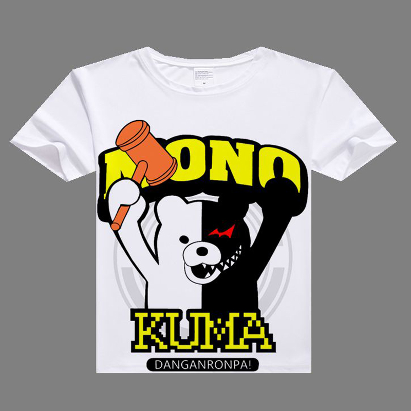 2017 anime casual tshirt Dangan Ronpa Cosplay T shirt digital printed Dangan Ronpa t-shirt  men Monokuma shirt