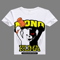 2017 anime casual tshirt Dangan Ronpa Cosplay T shirt digital printed Dangan Ronpa t-shirt  men Monokuma shirt