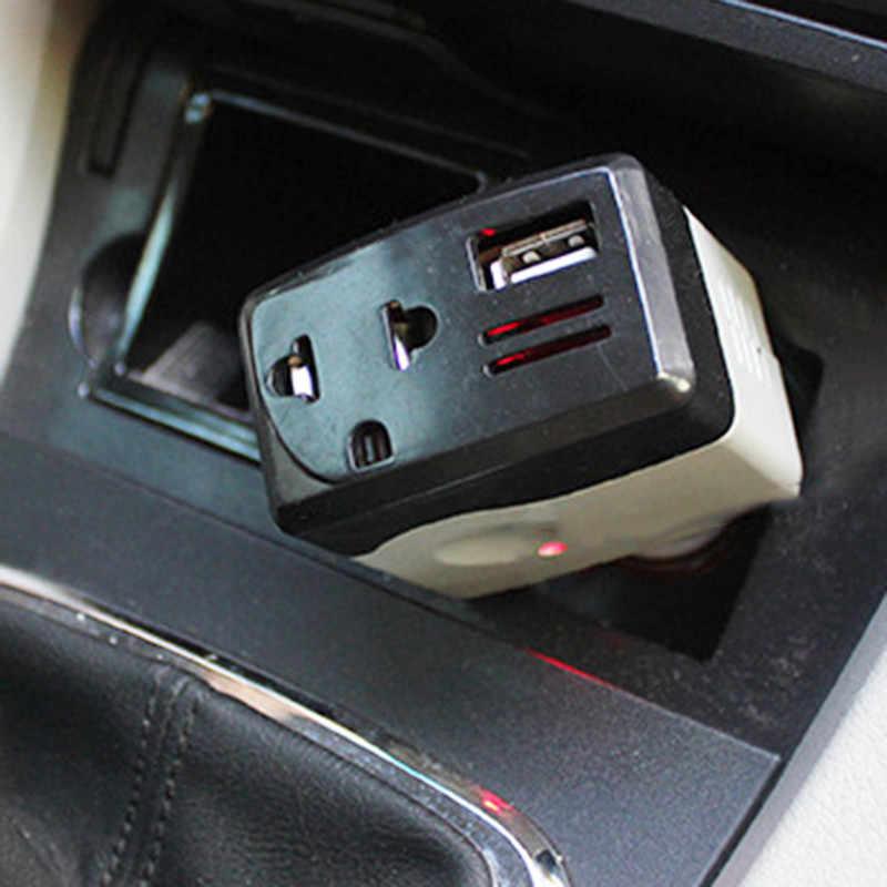 אביזרי רכב ממירי חריץ רכב מהפך Convertisseur 12 v 220 v רכב כוח מהפך ממיר מתאם עם USB מטען לרכב