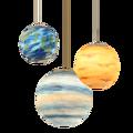 Скандинавские креативные вселенные планеты акриловый подвесной светильник Луна солнце земля Марс уран Меркурий Юпитер Сатурн планеты лам...