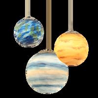 Nordic Creatieve Universum Planeet Acryl Hanglamp Maan Zon Aarde Mars Uranus Mercury Jupiter Planeet Saturnus Lampen-in Hanglampen van Licht & verlichting op