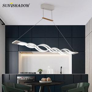 Image 2 - Asılı lamba Modern Led avize oturma odası yemek odası için mutfak parlaklık LED tavan avize aydınlatma fikstür armatürleri