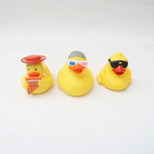 3pc/lot Bath Toys Shower Water Floating Squeaky Blue Rubber Ducks Baby