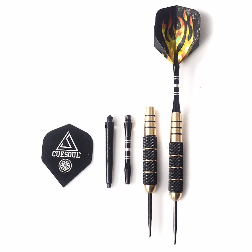 CUESOUL 3pcs set Professional Free Carry Box 24g Steel Tip Darts with Brass Dart Barrels Free Shipping in Darts from Sports Entertainment