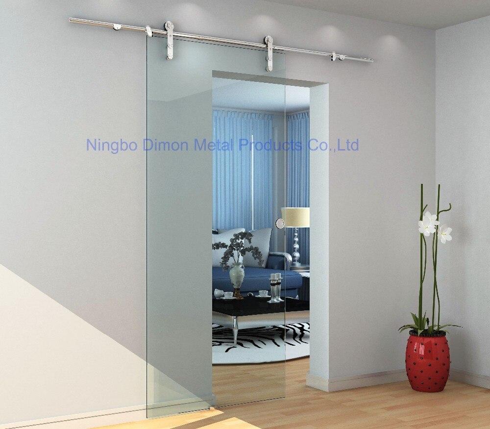de aço inoxidável 304 cetim vidro porta