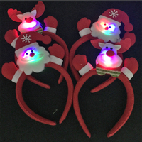 60 шт. Рождество световой лентой Санта Клаус Снеговик Олень Медведь оголовье партии реквизит Рождество украшения поставки