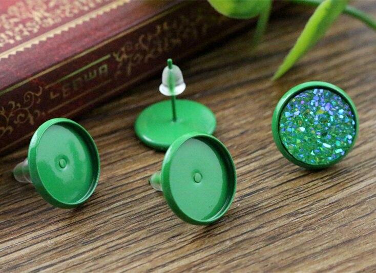 ᐃ12mm 20 unids color verde plateado pernos prisioneros del ...