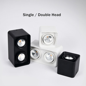 Image 2 - [DBF]Square White/Black No Cut Surface Mounted Ceiling Downlight High Power 10W 12W 20W 24W Ceiling Spot Light 3000K/4000K/6000K