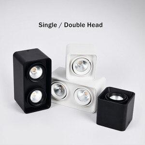 Image 2 - [DBF] carré blanc/noir sans coupe plafonnier monté en Surface haute puissance 10W 12W 20W 24W plafonnier 3000K/4000K/6000K