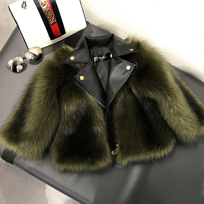 цена 2-9 years old, imitation fox fur, children's fur coat, children's clothing, autumn and winter, motorcycle tide, fashion and fur.