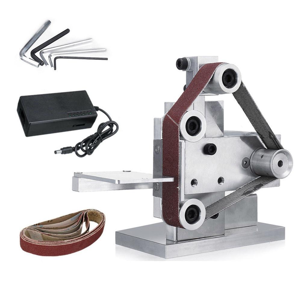 Haute qualité 7 vitesse meuleuse électrique ceinture ponceuse bricolage polissage rectifieuse Cutter bords affûteuse ceinture meuleuse ponçage