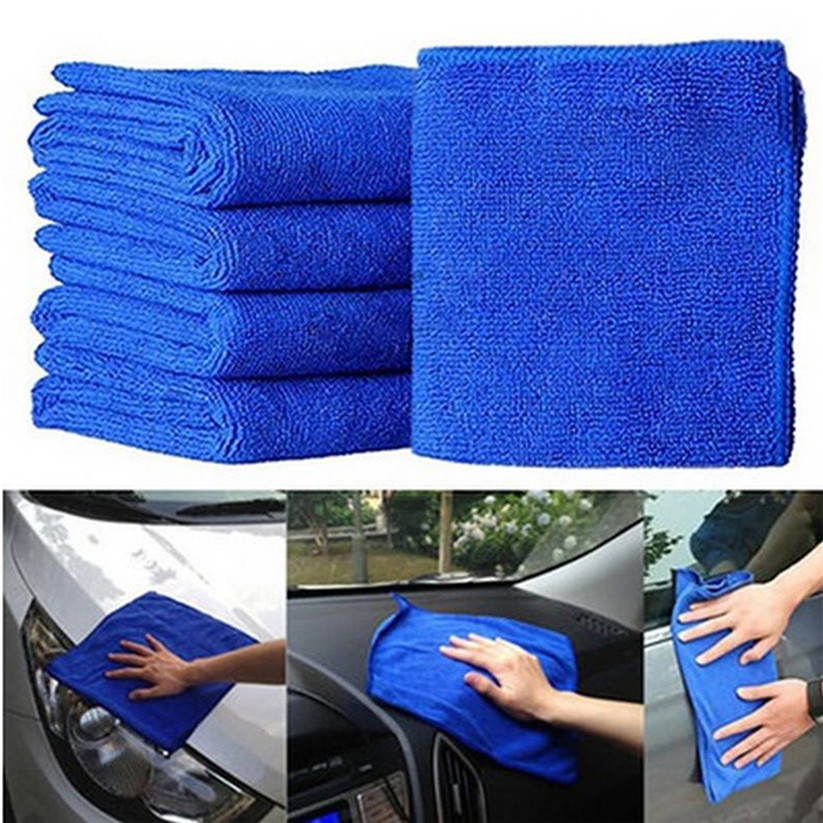 Blue Soft Car-Cleaning Microfiber Cloths