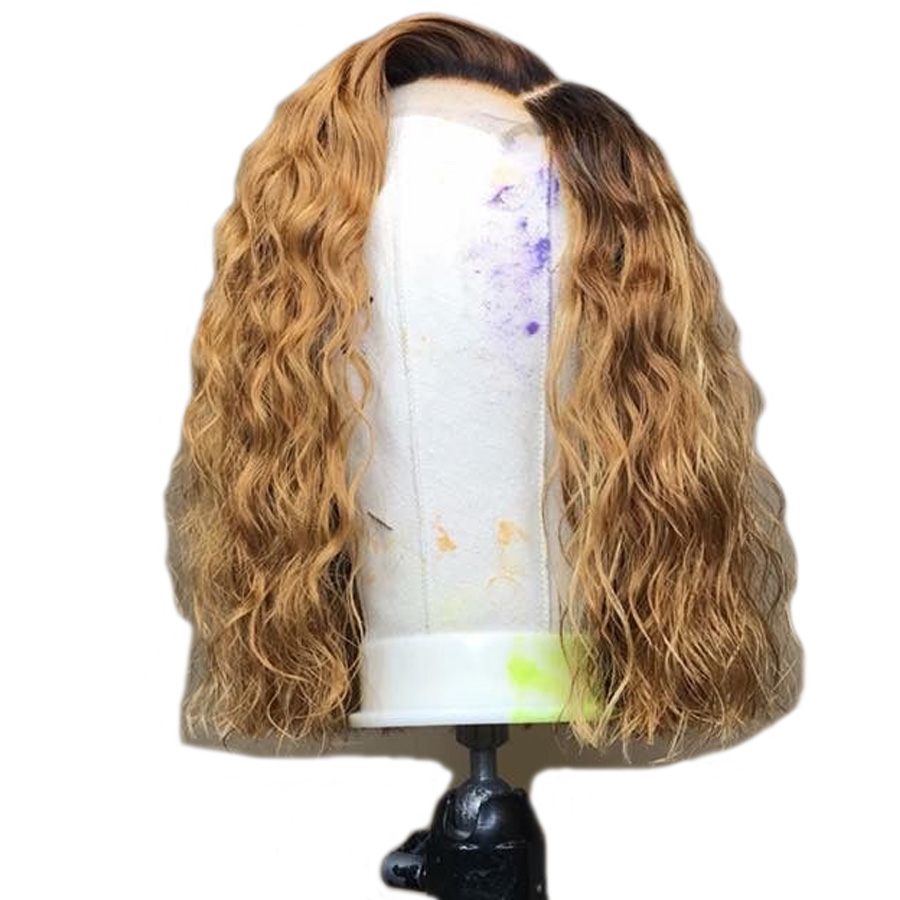 SHD 13 3 Lace Front Human Hair Wigs Ombre Blonde Lace Front Wig Short Wigs For