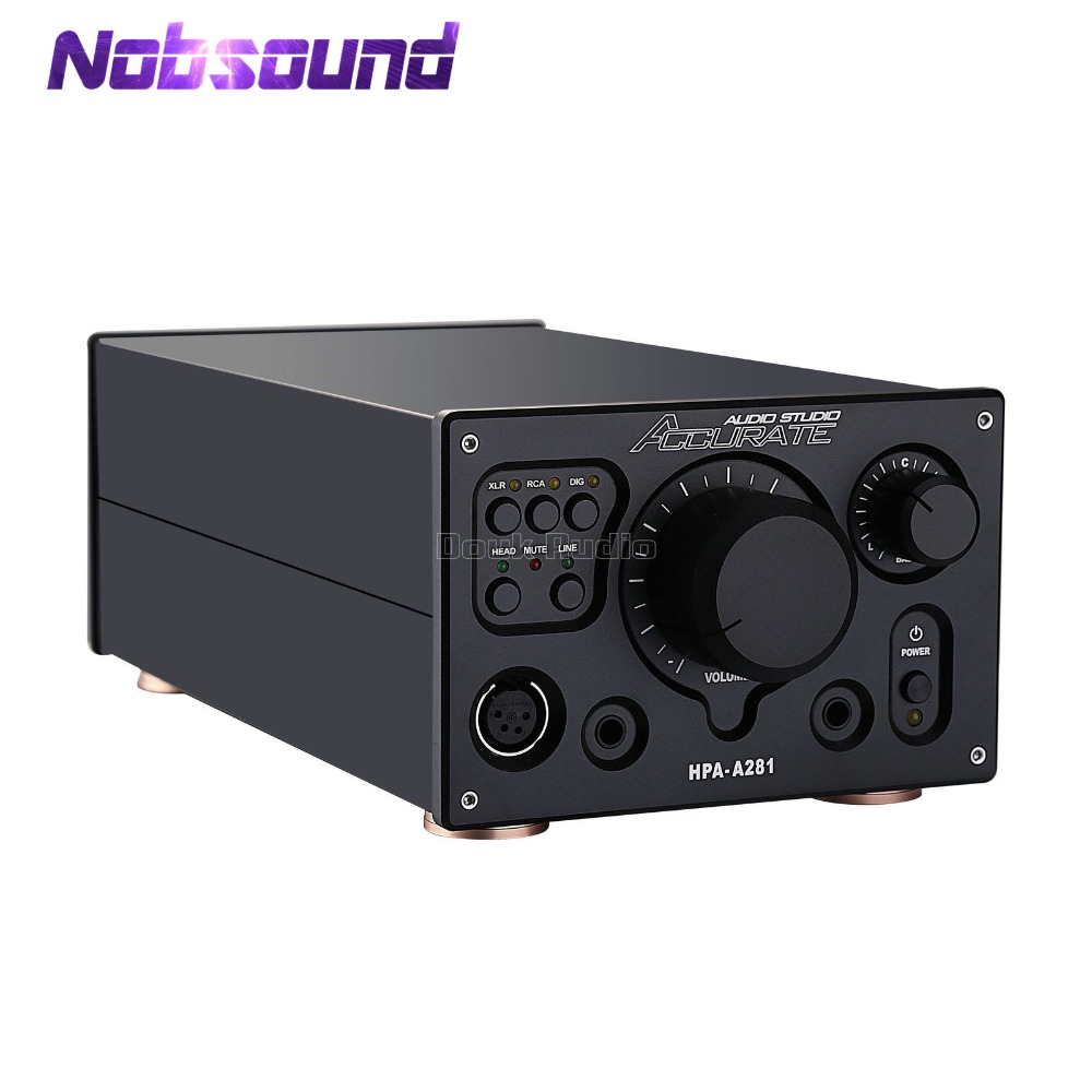 Nobsound Hi-end Fully Balanced Headphone Amp Digital XLR/RCA Stereo Amplifier HiFi Audio Preamp Reference HPA V281 circuits cube stereo 160 hpa 27 5 pro
