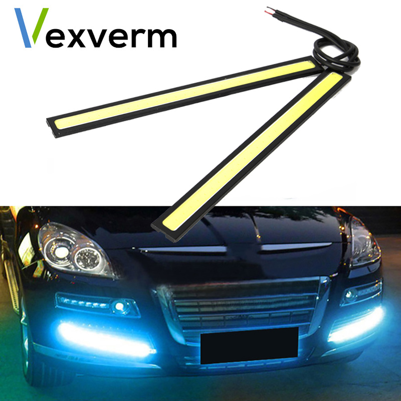 Vexverm Universal Daytime Running Super Bright Lights Waterproof COB Fog Lamp Car Styling Led Day Led Lights DRL Lamp