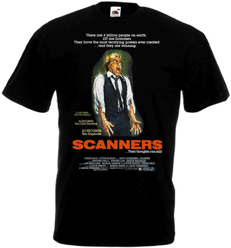 3d Print T-shirt Katoenen Tops Tee Scanners 1 T-shirt Zwart Movie Poster Alle Maten S... 5xlhip-hop Casual Kleding Top Watermeloenen