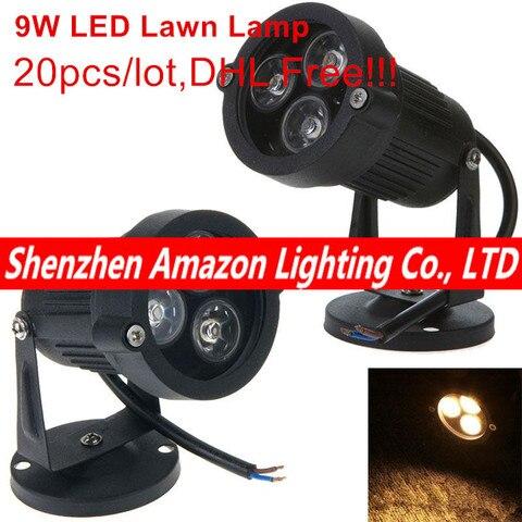 2016 nova led ac85 265v 12 v lampada do gramado do jardim luz 9 w