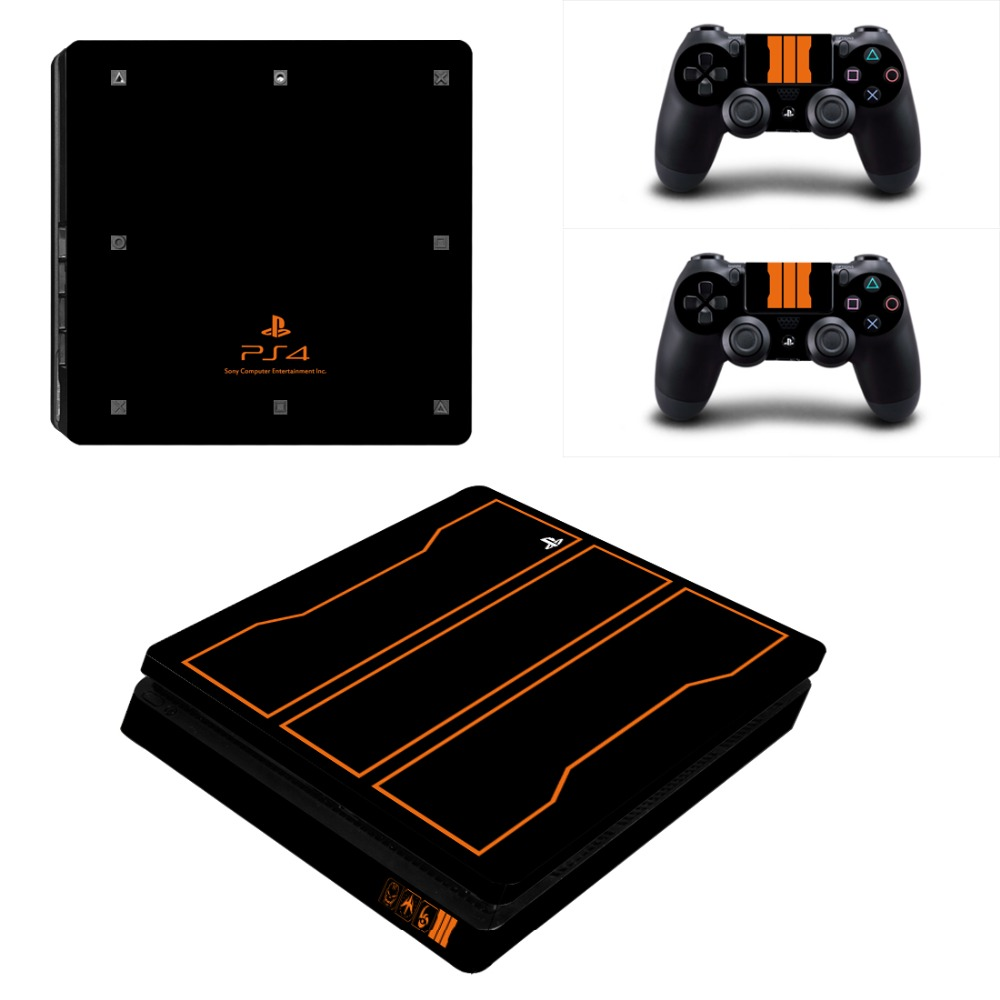 PS4 Slim Call of Duty Black limited edition Skin Sticker Decals Designed for PlayStation4 Slim Console and 2 controller skins