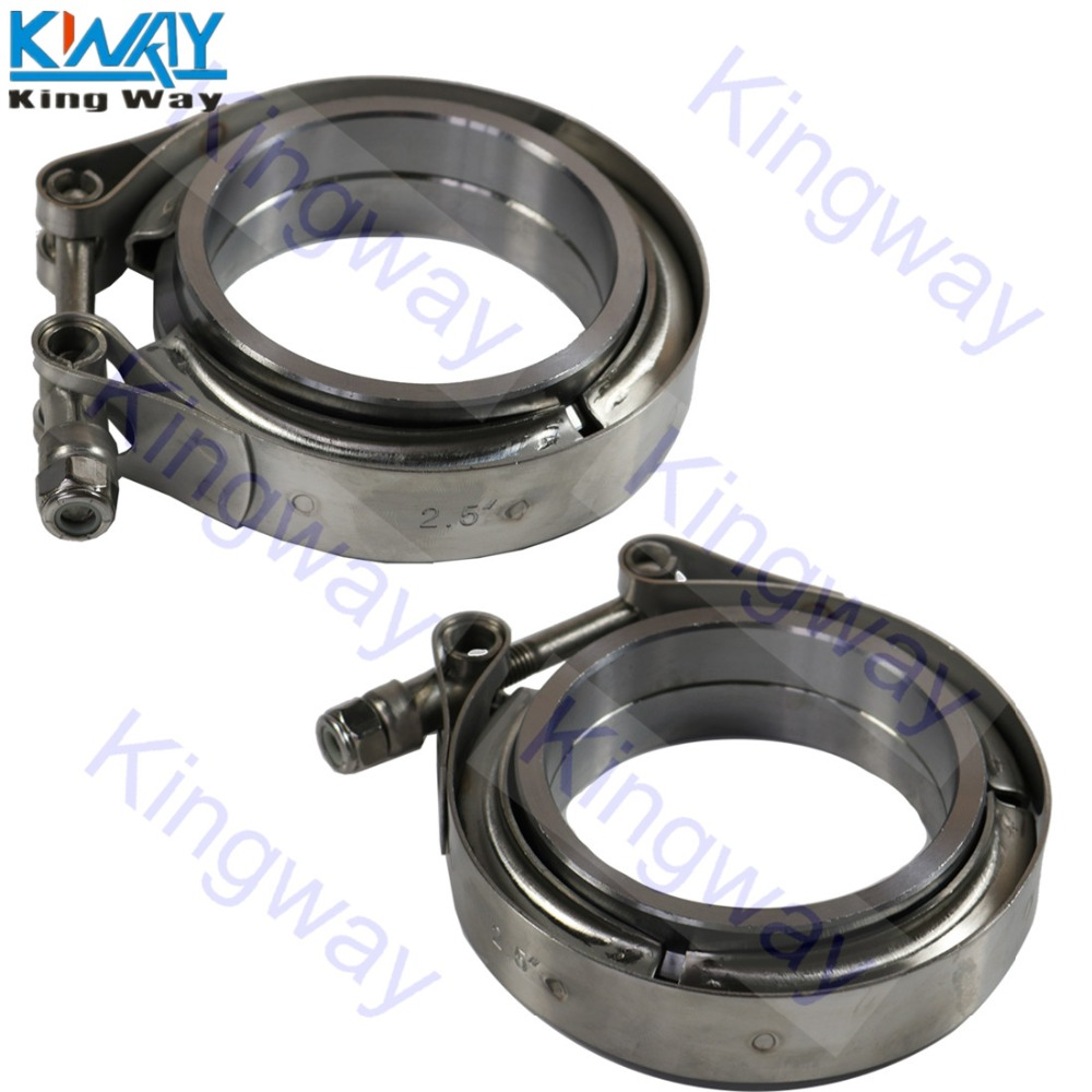 Stainless Steel Auto 2.0inch V band Clamp 2.0 V-band Exhaust FlangeTurbo Exhaust Vband V Clamps Kits 2.0inch-51mm
