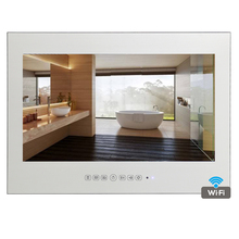 Souria New Design 27 inch Waterproof Android Smart Mirror TV with LAN WiFi Hot Sale Hotel Television