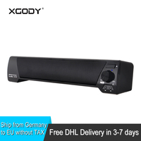 XGODY LP 09 Soundbar For TV Handsfree Subwoofer Wireless Sound Bar Bluetooth Speakers With Mic For
