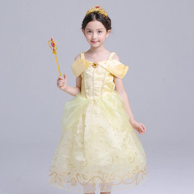 Online Shop Fashion Belle Dress for Kids Costume Rapunzel Party ...