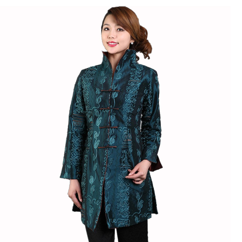 100% True Hottest Chinese Style Lady Silk Satin Overcoat Vintage Mandarin Collar Jacket Single Button Coat Tang Suit Size S To 4xl Jackets & Coats Women's Clothing