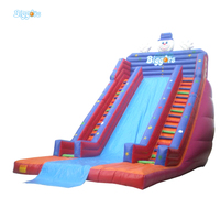 2018 Commercial Three Lane Slides Snowman Inflatable Slide Game With Good Price