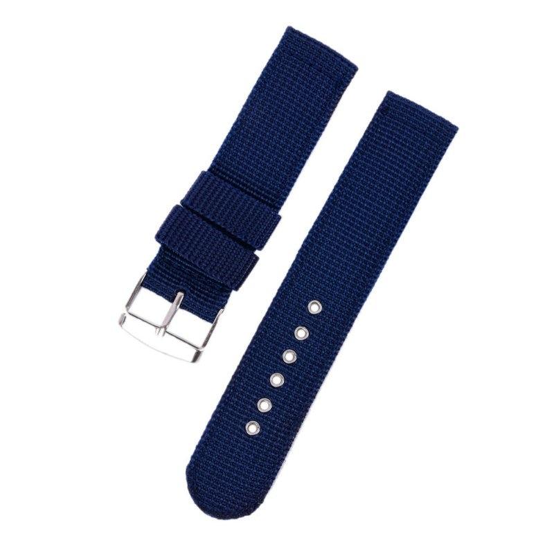 4 Farbe Militär Armee Uhrenarmband Nylon Stoff Canva Armbanduhr Band - Uhrenzubehör - Foto 4