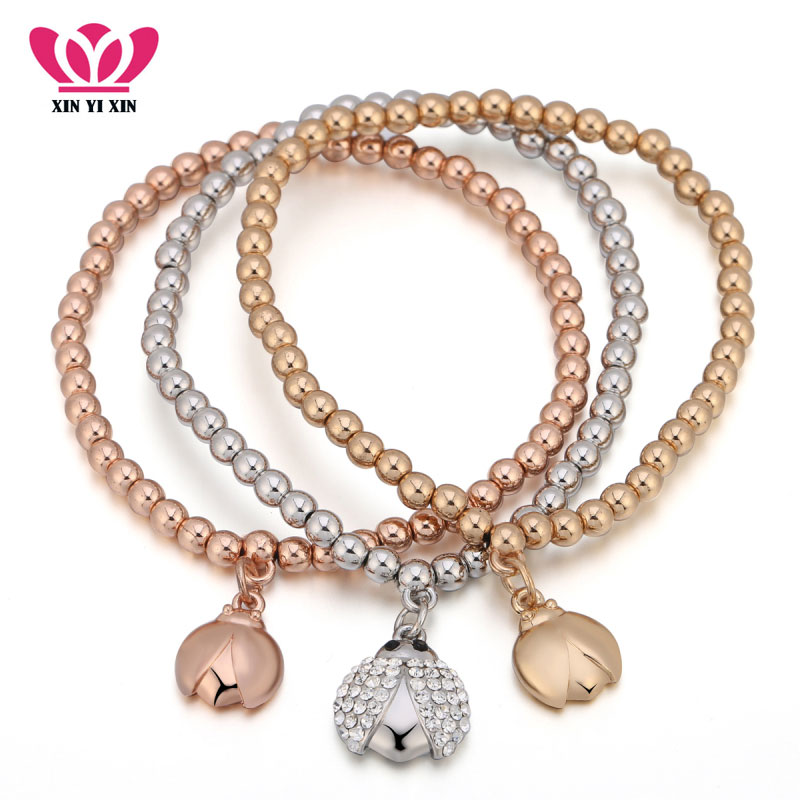 Beatles Charm Bracelet: New Cute Insect Beatles Charm Bracelets For Women