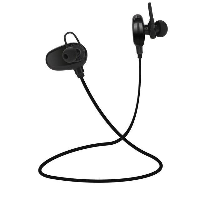 QAIXAG bezprzewodowa Bluetooth zestaw słuchawkowy dla aktywnych CSR program douszne zestaw słuchawkowy Bluetooth telefon komórkowy akcesoria czarny