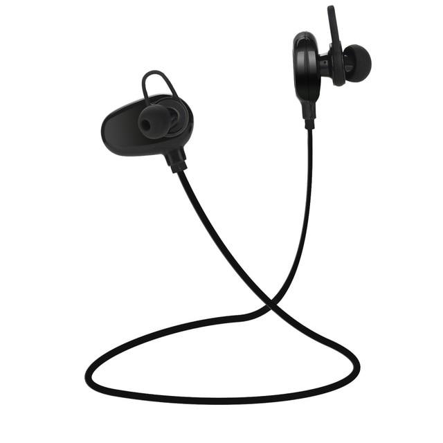 QAIXAG senza fili di Bluetooth di sport auricolare CSR programma in ear Bluetooth auricolare per telefoni cellulari accessori del telefono nero