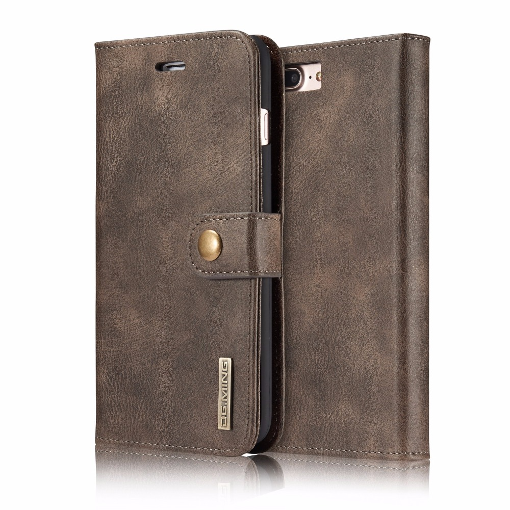 bilder für Für iphone 6 Fall Für iPhone 6 S plus 7 7 Plus Marke Flip abdeckung Aus Echtem Leder Brieftasche Kartenhalter Split PC Shell 2 in 1