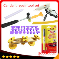 Car PDR Paintless Repair Tools Pulling Bridge Puller Dent Removal Tools PDR ToolKit 24x Pulling Tabs Glue Sticks+Fix it pro pen