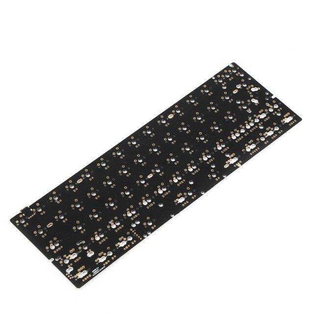 Gh60 64 minila pcb totalmente programável, para diy, teclado mecânico yd60 poker hhko, suporte led
