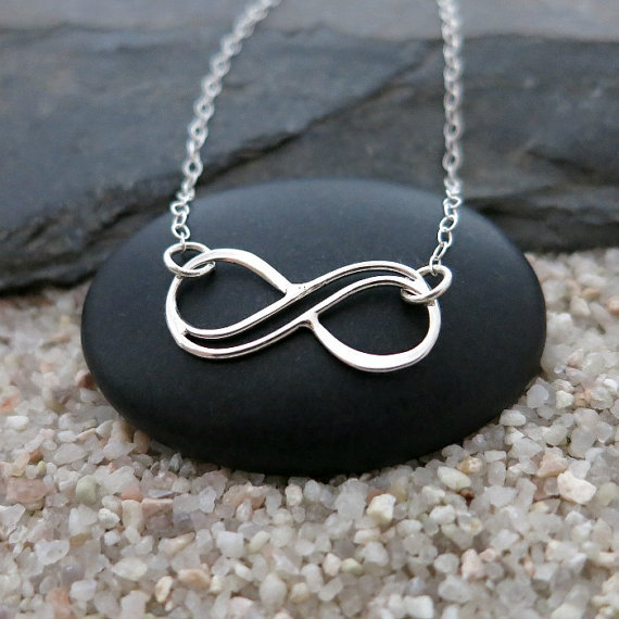 Double Wire Infinity Symbol Small Infinity Necklace Mother Of The