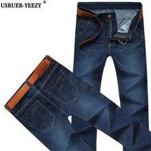 USRUER-YEEZY 28 -40 Jean Promotion Men Dark Blue Jeans 2017 Male Fashion Leisure Spring Autumn New Brand Pants Cheap Jeans Mens