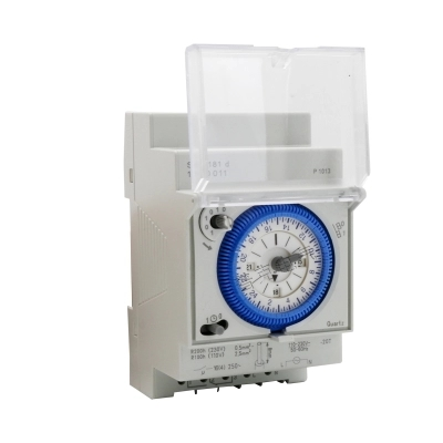 цена на Free Shipping Analog Mechanical Timer Switch 110V-220V 24 hours Daily Programmable 15min Setting Time Switch Relay SUL181D Hot