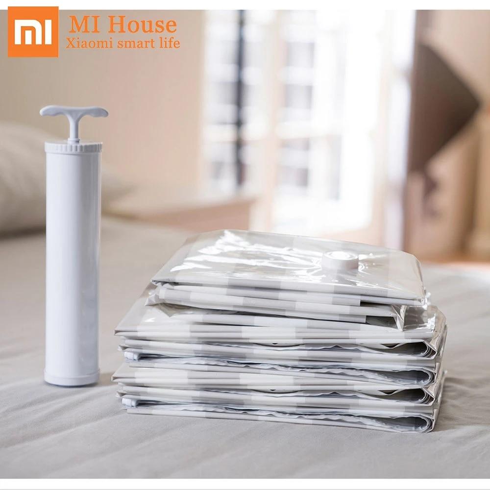 Xiaomi Chainlink Thông Minh Bảo Quản Túi Hút Chân Không Bơm Nén Túi Sắp Xếp  Với Mã QR Code Ứng Dụng Điện Thoại Điều Khiển Từ Xa Thông Minh Túi Bags  -  AliExpress