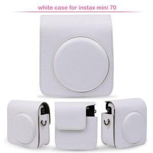 Image 5 - Sac de protection classique en cuir pour appareil photo avec bandoulière, Compatible pour appareil photo instantané Fujifilm Instax Mini 70