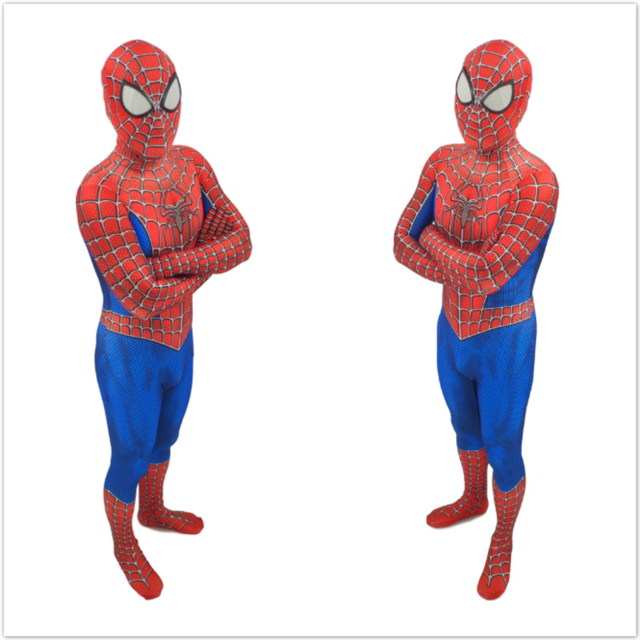 Adult Kids Spider-Man 3 Raimi Spiderman Cosplay Costume Zentai Superhero Bodysuit Suit Jumpsuits costume