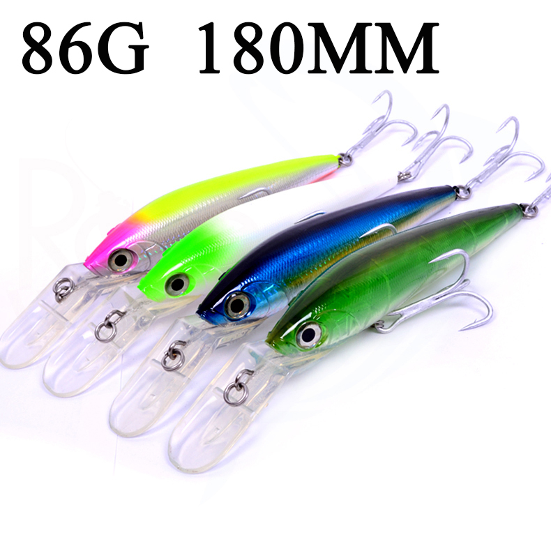 Buy cheap fishing lures 86g 180mm minnow for Cheap fishing lures
