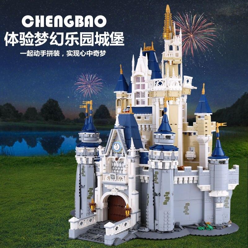 16008 cendrillon princesse château ville set blocs de construction briques enfants bricolage jouet cadeau d'anniversaire Compatible avec 71040