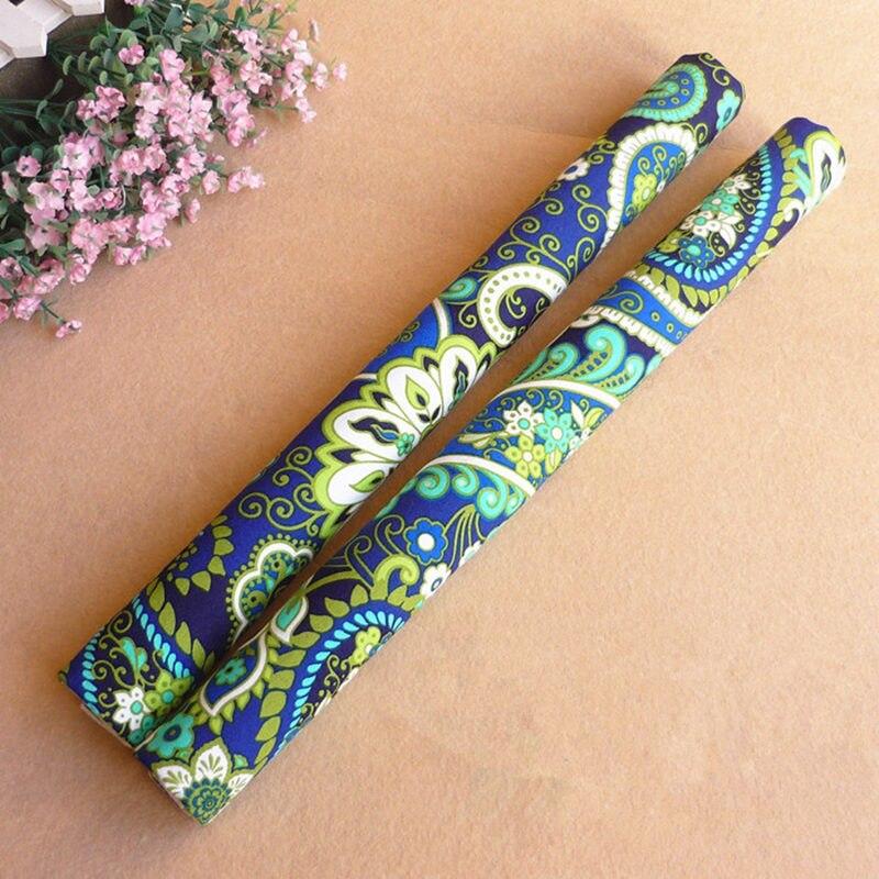1 paire tissu réfrigérateur poignée couverture élégant imprimé réfrigérateur poignée gants poignée de porte couvre décoration taille personnalisé