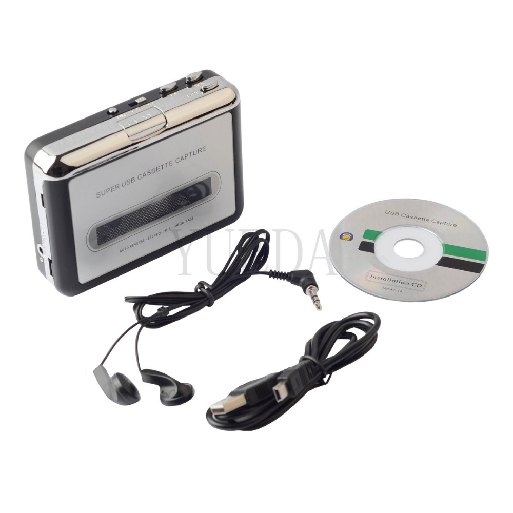cassette player USB Cassette to MP3 Converter Capture Audio Music Player Convert music on tape to
