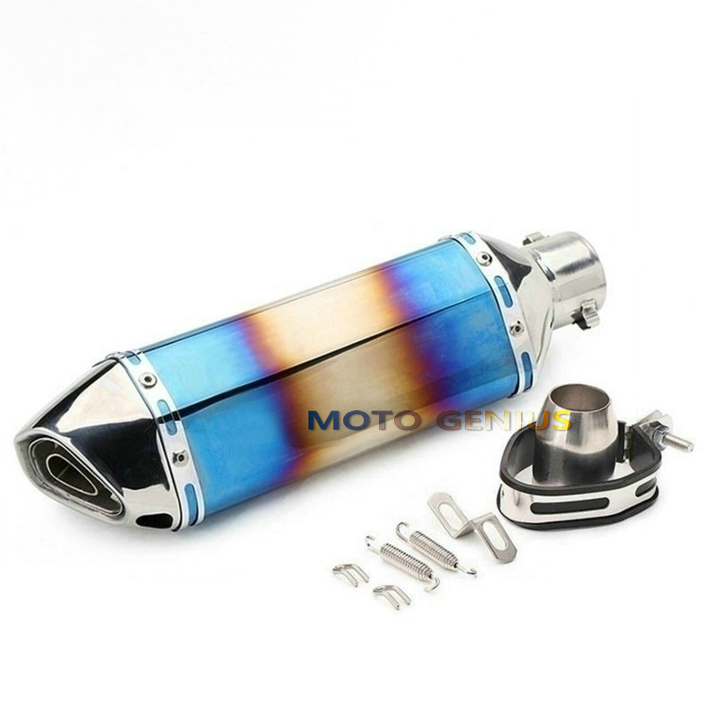 где купить Universal Exhaust Pipe Muffler Slip On Stainless Steel Motorcycle Exhaust Muffler Akrapovic Escape Dirt Bike Scooter Db Killer дешево