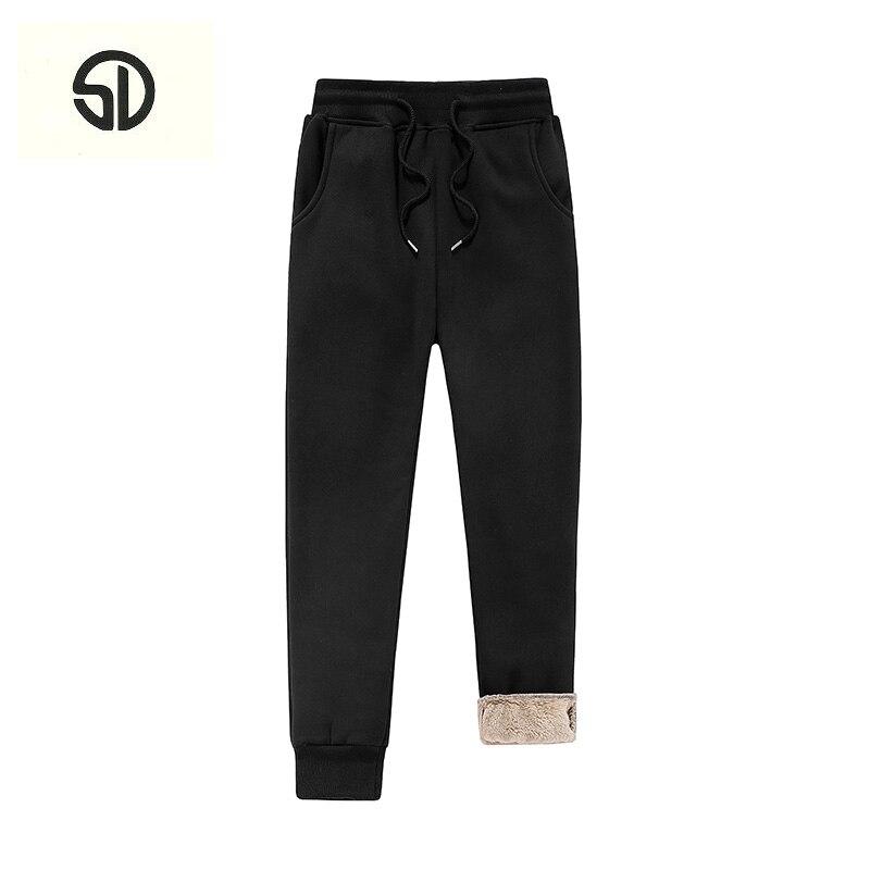 Thick Fleece Velvet Casual Slim Fit Mens Joggers Fur Sweat Pants Fashion Large Size Stretch Long Trousers Runner Pants For Men