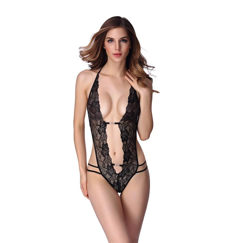 Body Suit Women Sexy Lingerie Hot Sexy Porn Lace One-Piece Sleepwear Erotic Underwear Women Nightwear Nighties 1